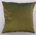 LUXURY SUPER SOFT VELVET MOSS GREEN CUSHION COVER £5.99 EACH FREE POSTAGE
